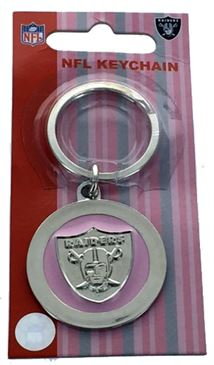 Oakland Raiders Pink Key Chain