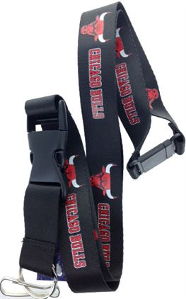 NBA -  CHICAGO BULLS LANYARD (BLACK)