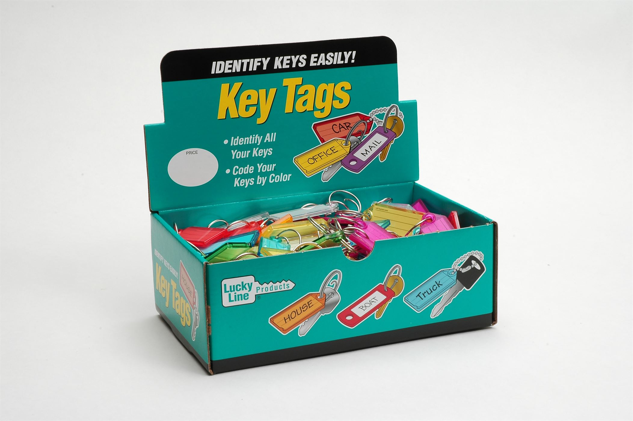 ID TAG W/TANG ASSORTED 100/BOX