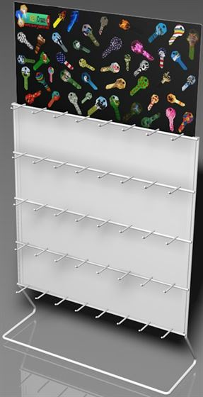 40 Hooks Carded Keys Rack