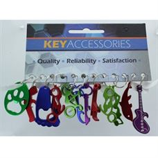 ASSORTED BOTTLE OPENERS, 12/CARD