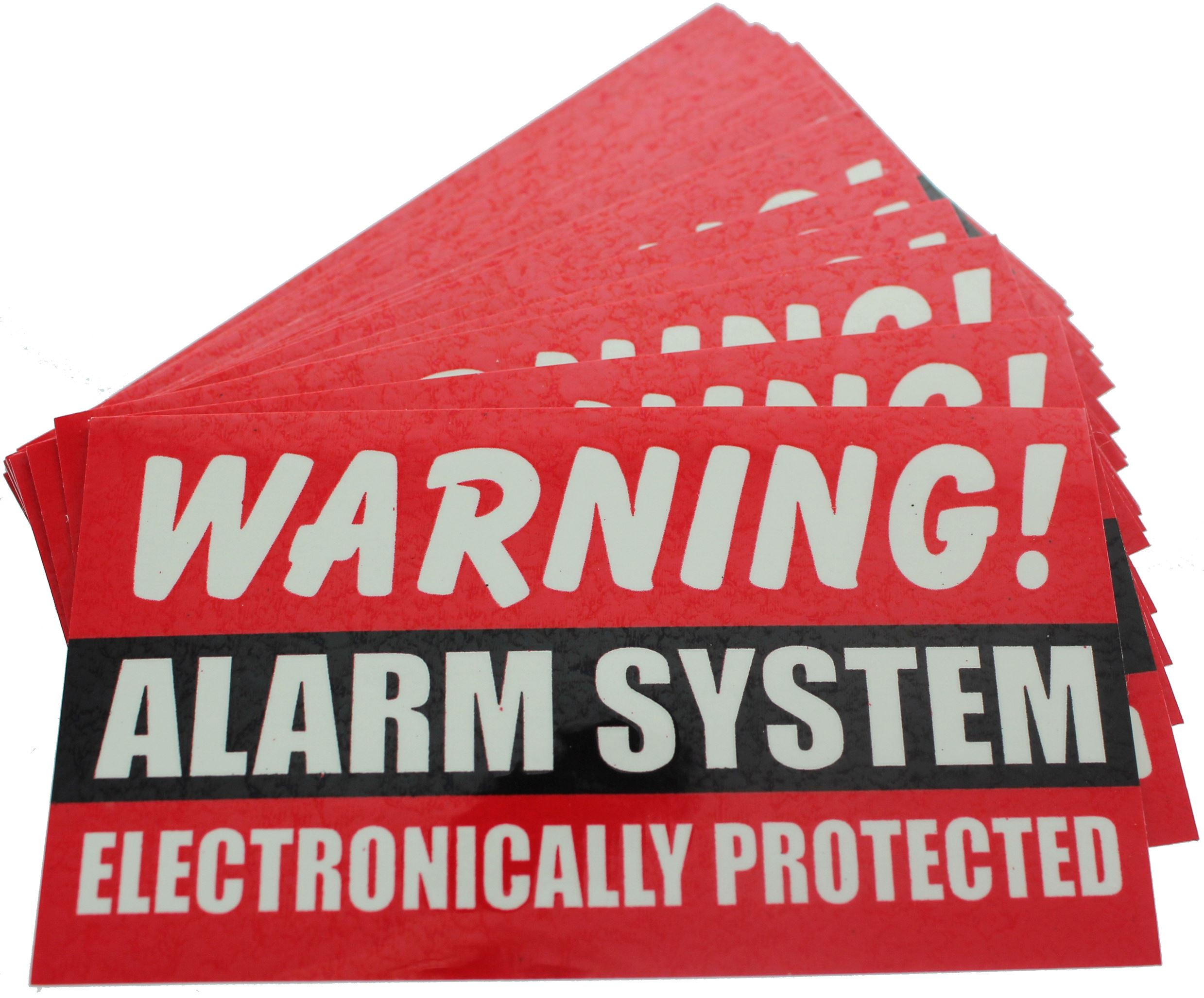 25 Warning STICKERS Alarm System