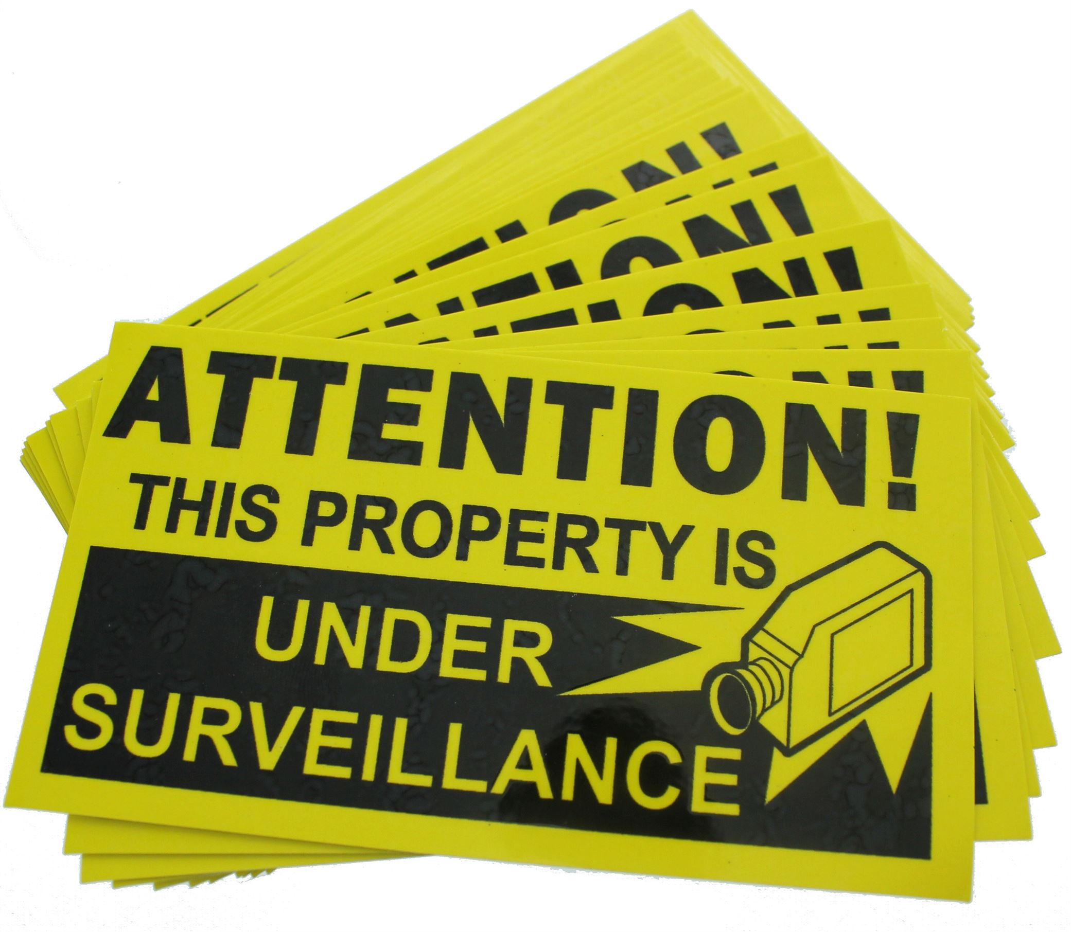 25 Warning STICKERS Surveillance