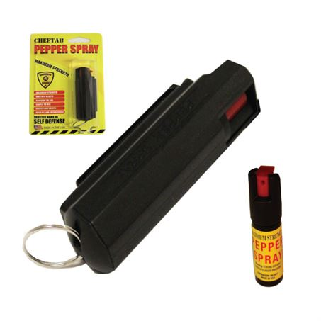 HARD SHELL PEPPER SPRAY KEYRING - BLACK (OUT OF STOCK)
