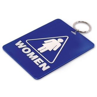 WOMENS RESTROOM TAG W/RING 1/PK