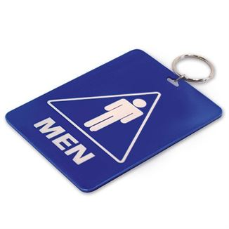 MENS RESTROOM TAG W/RING 1/PK