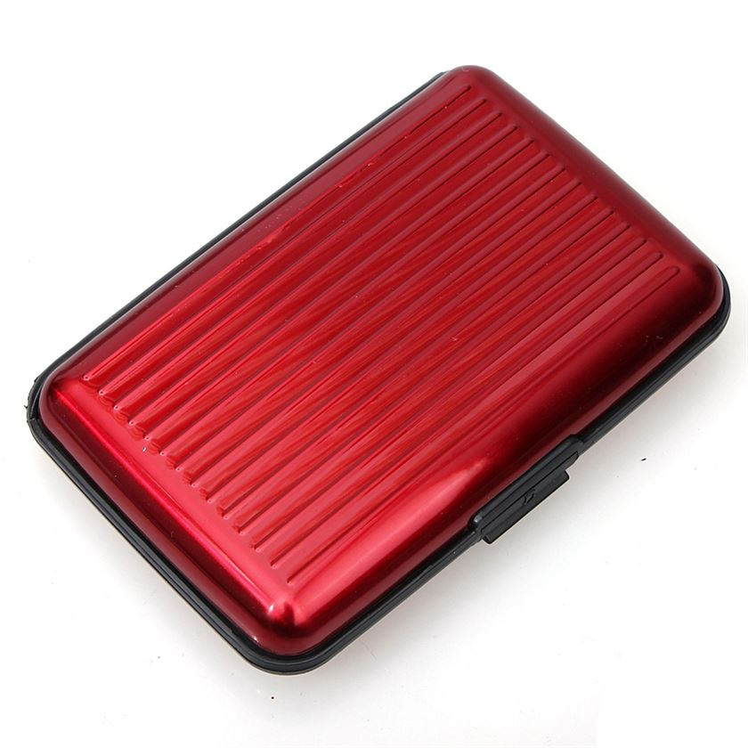 RED ALUMINUM CREDIT CARD WALLET