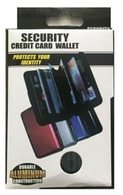 ALUMINUM CREDIT CARD SECURITY WALLET, ASSORTED