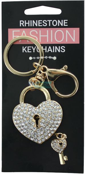 HEART LOCK FASHION KEYRING