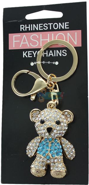 TEDDY BEAR FASHION KEYRING ASSORTED