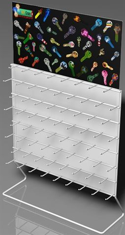68 Hooks Color Key Rack