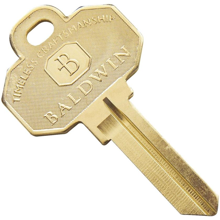 Baldwin Key Blank with KW1 / KW11 Keyway