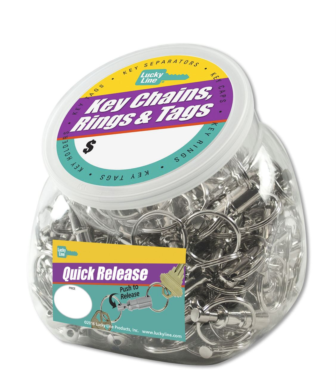 QUICK RELEASE KEY RING 75/JAR