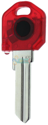 KW1 KEY LIGHT - RED KEY WITH RED LIGHT