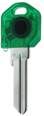 KW1 KEY LIGHT - GREEN KEY WITH GREEN LIGHT