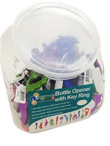 ASSORTED BOTTLE OPENER KEYCHAIN, 48/JAR