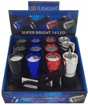 14 LED FLASHLIGHT, 12/DISPLAY