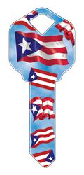 HAPPY KEY - PUERTO RICAN FLAG