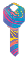 HAPPY KEY - RAINBOW SWIRL
