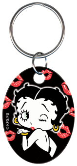 KEY CHAIN - BETTY BOOP & KISSES