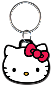 HELLO KITTY HEAD SHAPE KEYCHAIN