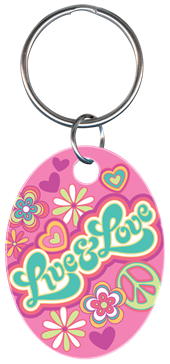 LIVE AND LOVE KEYCHAIN