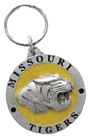 MISSOURI TIGERS KEY CHAIN