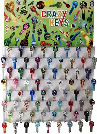 KW1-CRAZY KEYS DISPLAY ASST