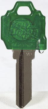 KW1-KEY LIGHT - GREEN KEY WITH GREEN LIGHT