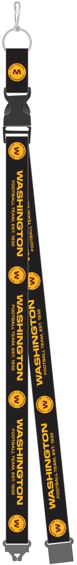 WASHINGTON FOOTBALL TEAM BLACK LANYARD