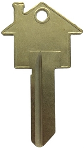 SC1 HOUSE SHAPE BRASS PLATED