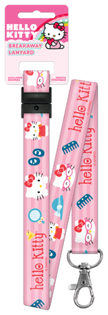 HELLO KITTY PINK LANYARD