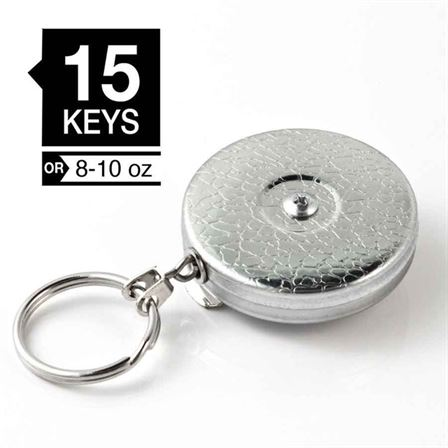 Original KEYBAK - 48in Kevlar cord, belt clip, Chrome