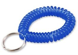 WRIST COIL WITH RING, BLUE