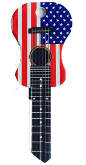 KW1 AMERICAN FLAG ACOUSTIC GUITAR