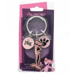 PINK PANTHER CHARMS KEY RING