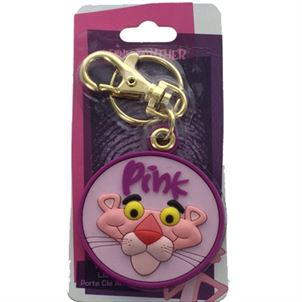 PINK PANTHER PLASTIC KEY RING