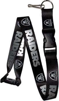 Oakland Raiders Black Lanyard