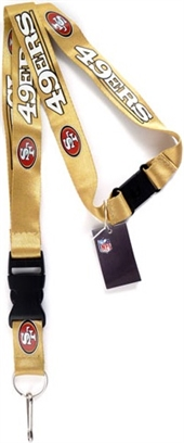 San Francisco 49ers Gold Lanyard