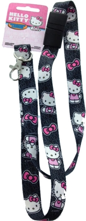 HELLO KITTY BLACK LANYARD