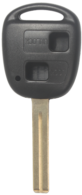 TOYOTA LEXUS TOY48- 2 BUTTON KEY SHELL (SHORT)