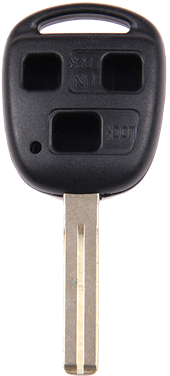 TOYOTA LEXUS TOY48- 3 BUTTON KEY SHELL (SHORT)