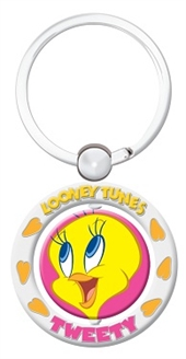 TWEETY SPINNER KEY RING