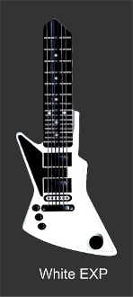 KW1 WHITE EXP GUITAR
