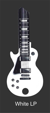 KW1 WHITE LP GUITAR