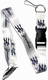 WHITE YANKEES LANYARD